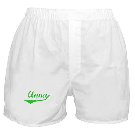 Anna Vintage (Green) Boxer Shorts