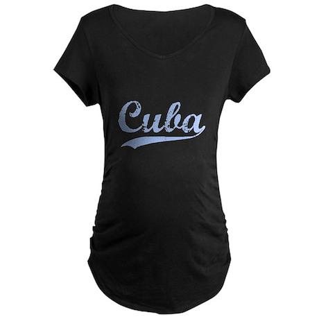 Vintage Cuba Retro Maternity Dark T-Shirt