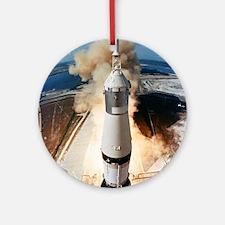 Apollo 11 launch Round Ornament