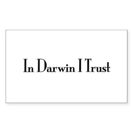In Darwin I Trust Rectangle Sticker