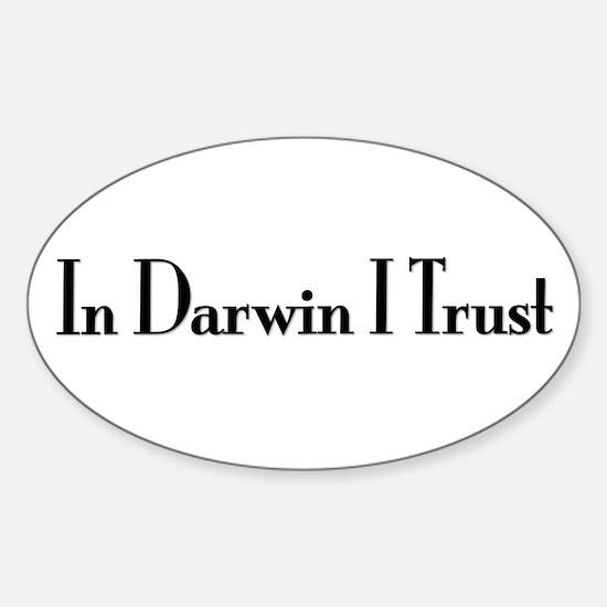 In Darwin I Trust Oval Decal
