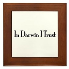 In Darwin I Trust Framed Tile
