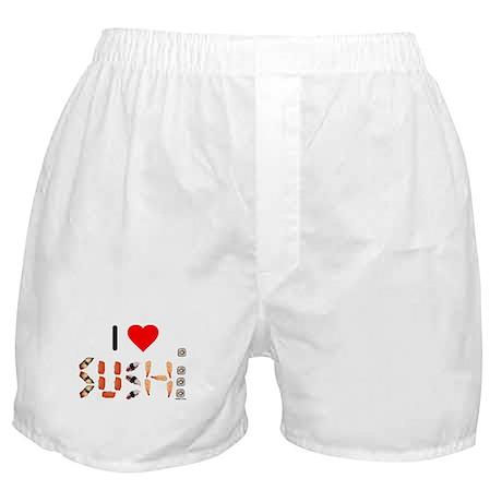 I Heart Sushi Boxer Shorts
