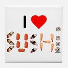 I Heart Sushi Tile Coaster