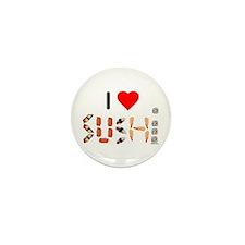 I Heart Sushi Mini Button (10 pack)