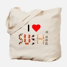 I Heart Sushi Tote Bag