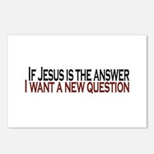 If Jesus is the answer Postcards (Package of 8)