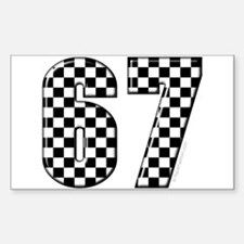 Checkered Flag #67 Rectangle Decal