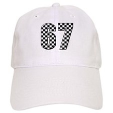Checkered Flag #67 Baseball Baseball Cap