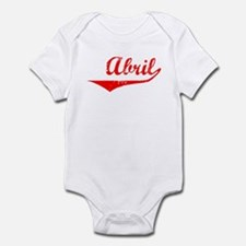 Abril Vintage (Red) Infant Bodysuit