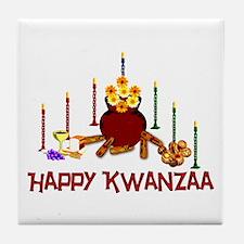 Kwanzaa Holiday Tile Coaster