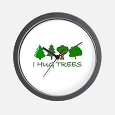 I Hug Trees Wall Clock