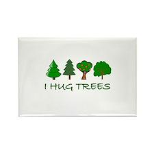 I Hug Trees Rectangle Magnet