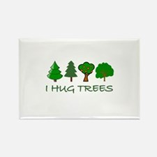 I Hug Trees Rectangle Magnet