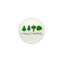 I Hug Trees Mini Button (100 pack)