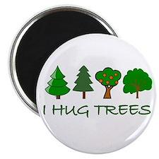 """I Hug Trees 2.25"""" Magnet (100 pack)"""