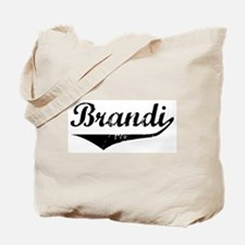 Brandi Vintage (Black) Tote Bag
