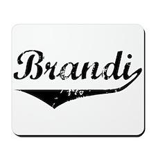 Brandi Vintage (Black) Mousepad