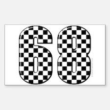 Racing Number 68 Rectangle Decal