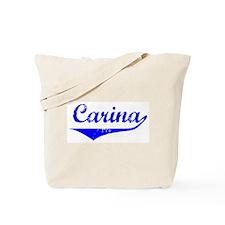 Carina Vintage (Blue) Tote Bag
