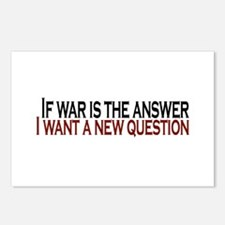 If War is the answer Postcards (Package of 8)