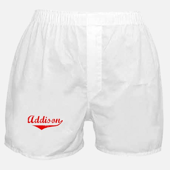 Addison Vintage (Red) Boxer Shorts