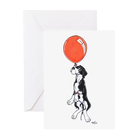 N Mtl Balloon Pup Greeting Card