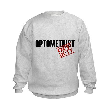 Off Duty Optometrist Kids Sweatshirt