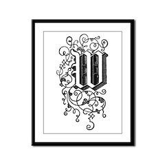 Letter W Framed Panel Print