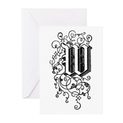 Letter W Greeting Cards (Pk of 10)