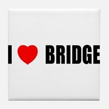 I Love Bridge Tile Coaster