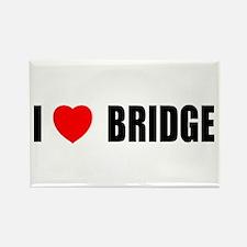 I Love Bridge Rectangle Magnet