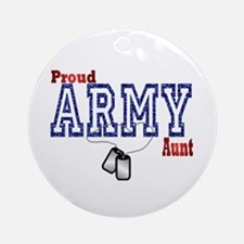 army aunt Ornament (Round)