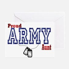 army aunt Greeting Card