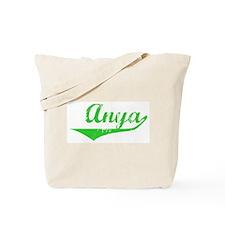 Anya Vintage (Green) Tote Bag
