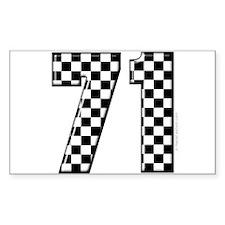 Auto Racing #71 Rectangle Decal