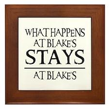 STAYS AT BLAKE'S Framed Tile