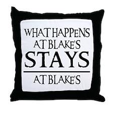 STAYS AT BLAKE'S Throw Pillow
