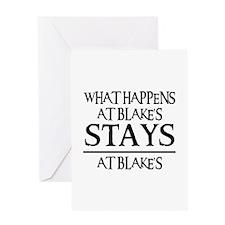 STAYS AT BLAKE'S Greeting Card
