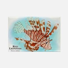 Red Lionfish Rectangle Magnet