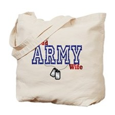 ARMY WIFE RED WHITE AND BLUE Tote Bag