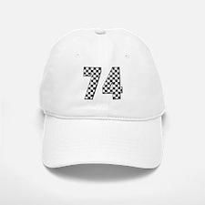 Racing Number 74 Baseball Baseball Cap