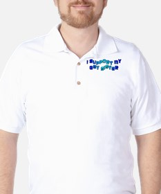 I Support My Gay Sister Blue Golf Shirt