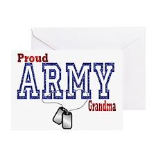 army grandma Greeting Card