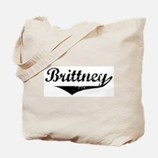 Brittney Vintage (Black) Tote Bag