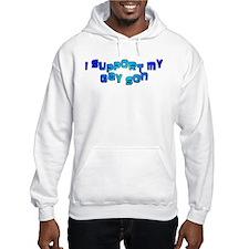 I Support My Gay Son Blue Jumper Hoody
