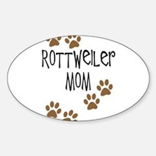 Rottweiler Mom Sticker (Oval)