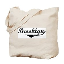 Brooklyn Vintage (Black) Tote Bag