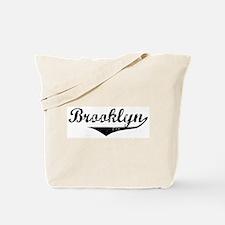Brooklyn Vintage (Black) Tote Bag