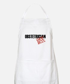 Off Duty Obstetrician BBQ Apron